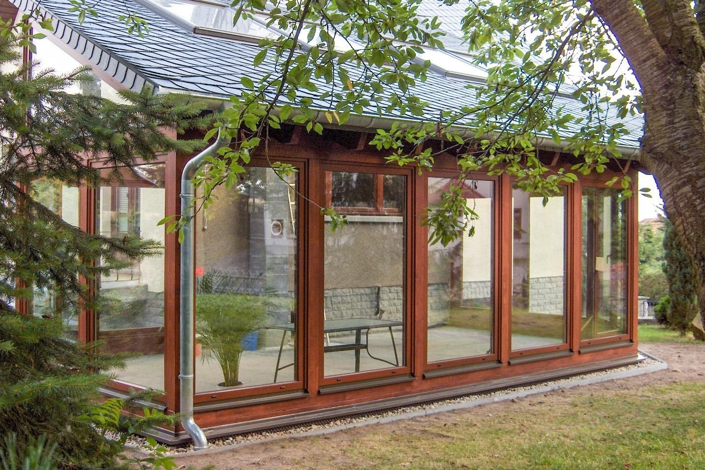 HO Wintergarten mit Schieferdach